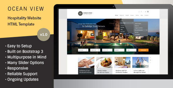 5 best html responsive booking templatesweb design academy for Hotel booking design